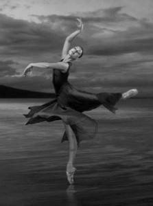 Ballet wallpaper dancer in b_w cropd